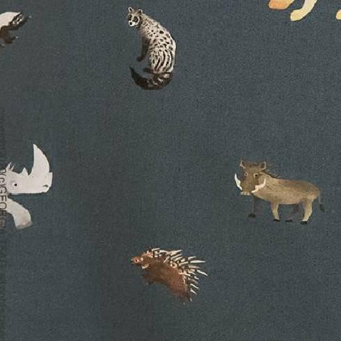 非洲動物(藍綠)