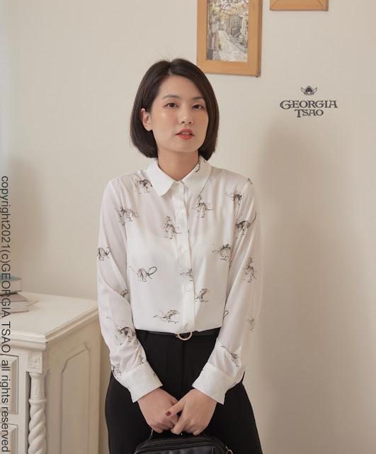 GT Print 小尖領襯衫