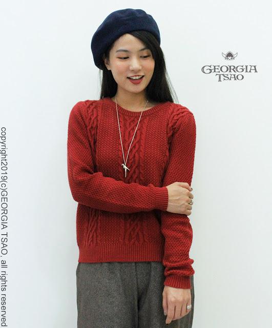 GT麻花針織毛衣