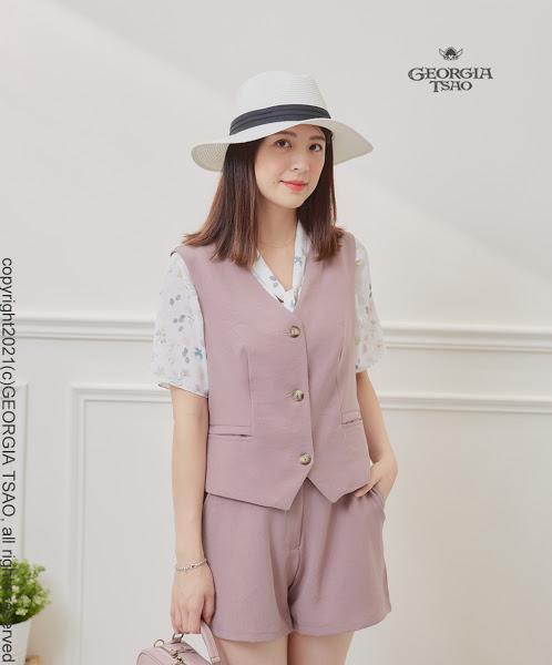 GT西裝背心-粉紫(不完美商品)