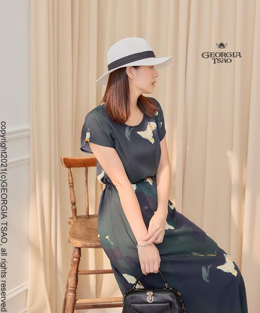 GT Print 綁帶洋裝