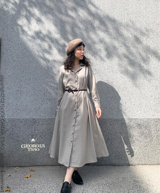 GT復古領襯衫洋裝