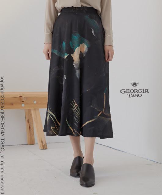 GT Print 長圓裙