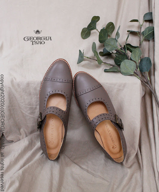 GT全真皮瑪莉珍鞋