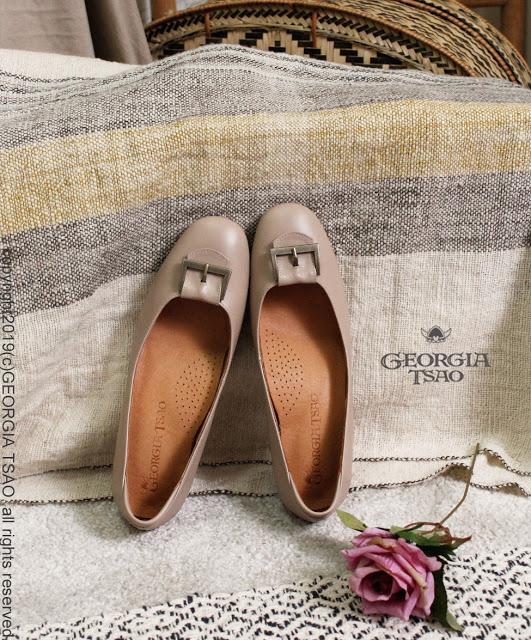 GT 方頭釦環跟鞋
