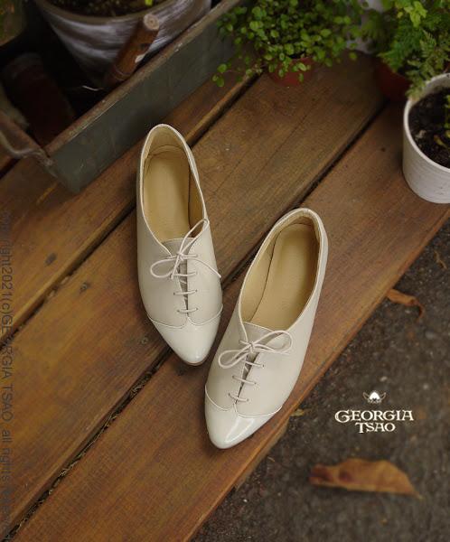 GT法式拼接平底鞋