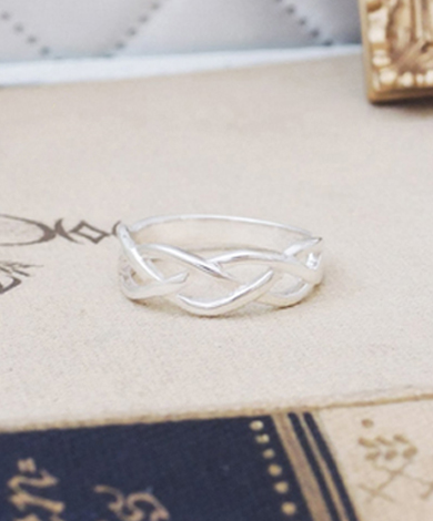 GT 交織純銀戒指