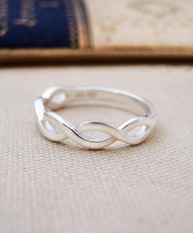 GT 編織純銀戒指