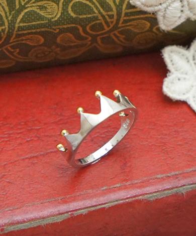 GT 鍍金皇冠純銀戒指