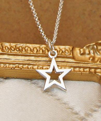 小星星純銀項鍊