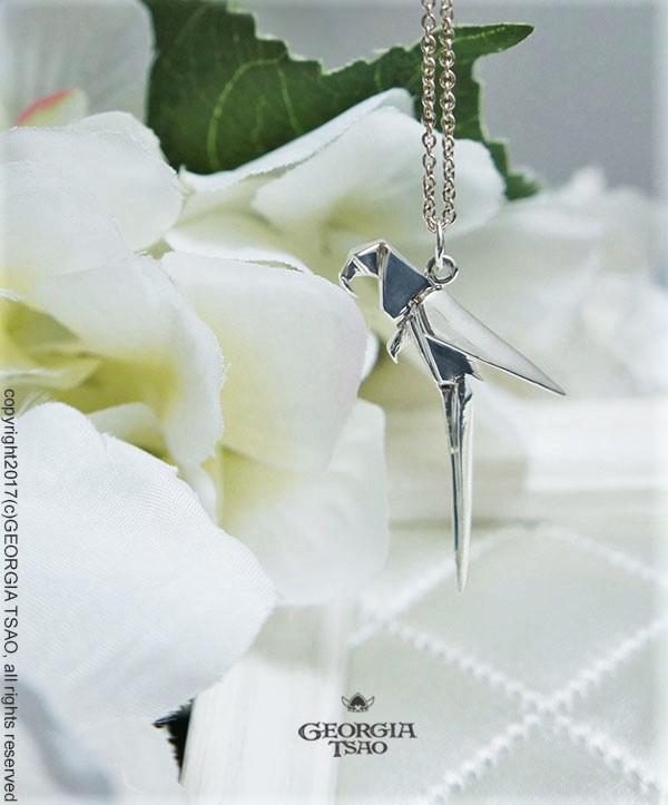 鸚鵡純銀項鍊-24吋