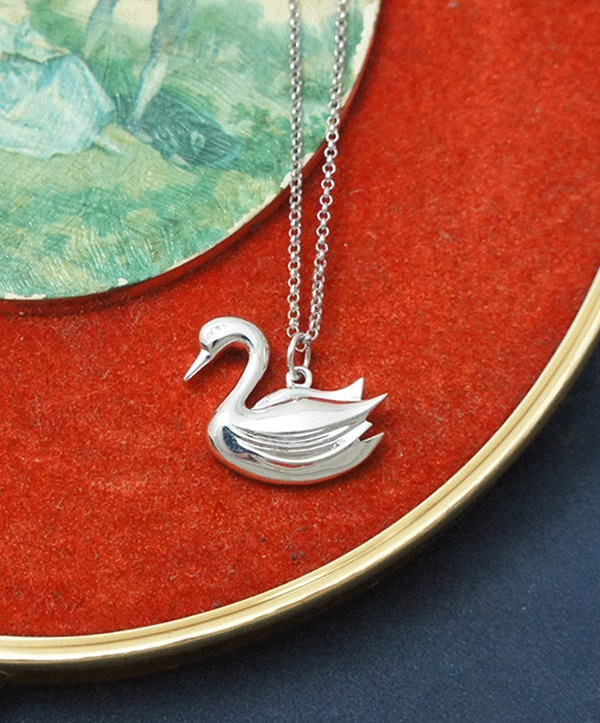 天鵝純銀項鍊