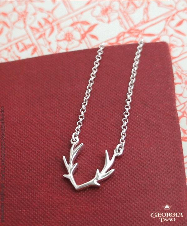 鹿角純銀項鍊