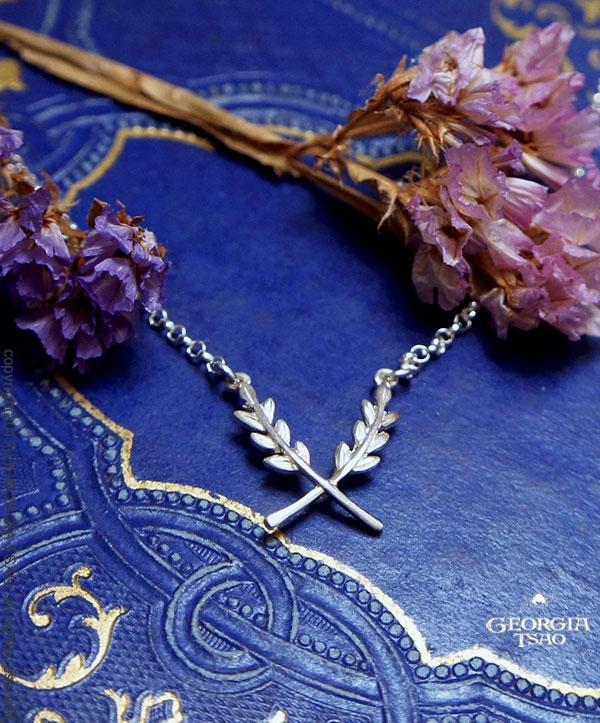 愛的穀粒純銀項鍊