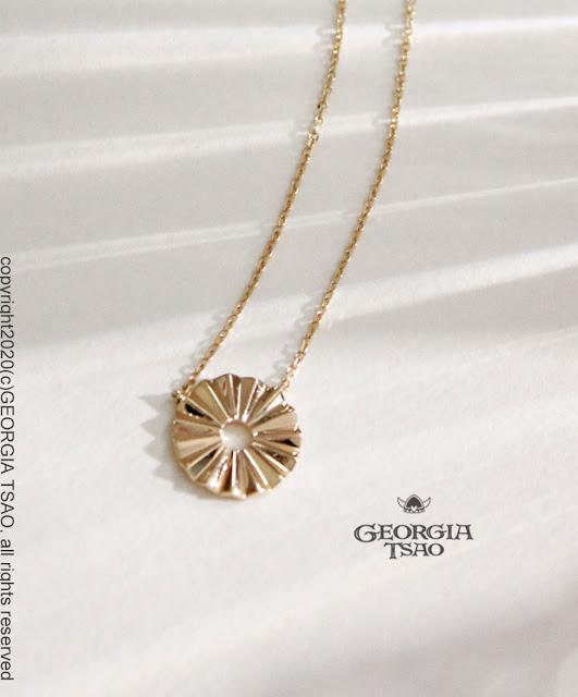 GT 14K金項鍊-鳳梨太陽