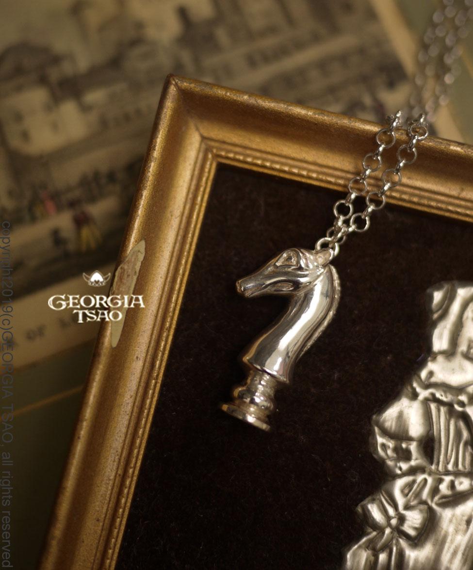 GT西洋棋騎士純銀項鍊
