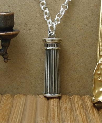希臘柱純銀項鍊(男)