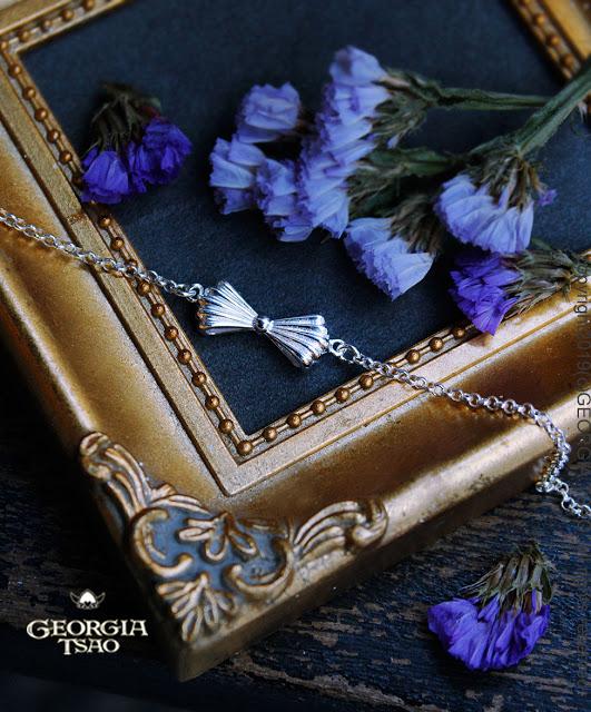 GT雙面蝴蝶結純銀粗手鍊
