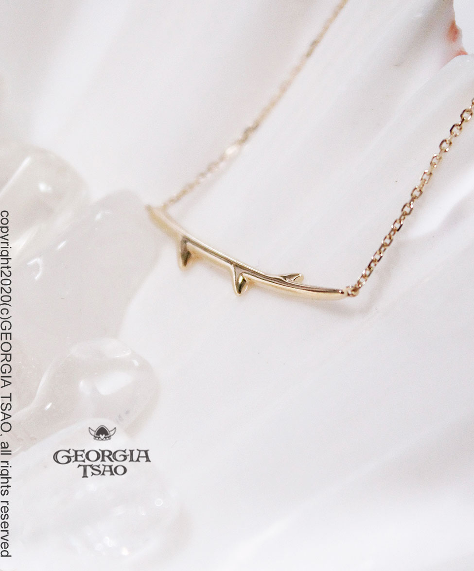 GT 14K金項鍊-荊棘