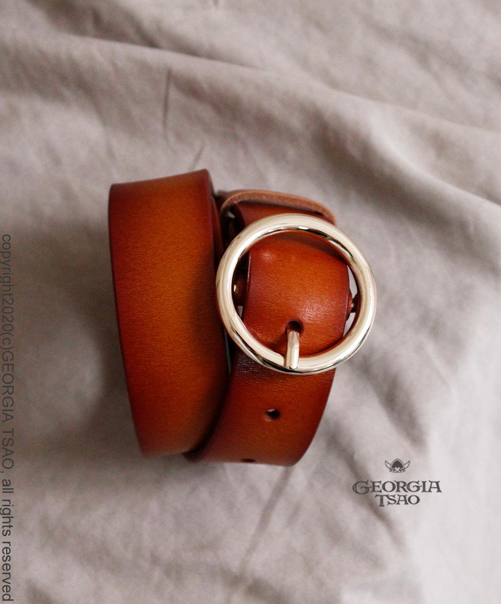 特製圓釦皮帶