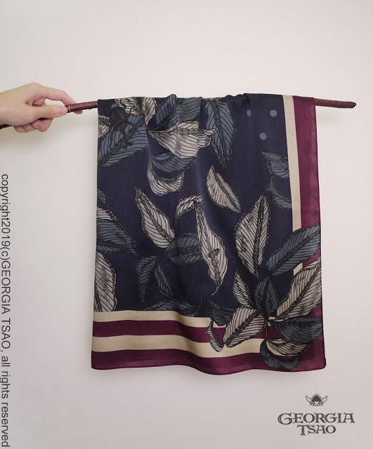 GT Print森之盛宴蠶絲方巾
