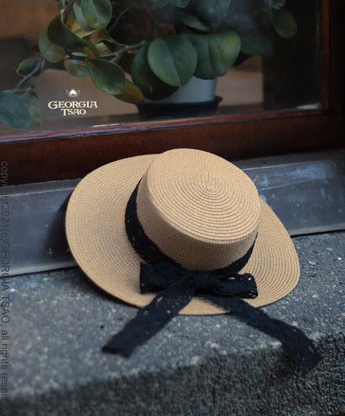 緞帶草帽(單一特價商品)