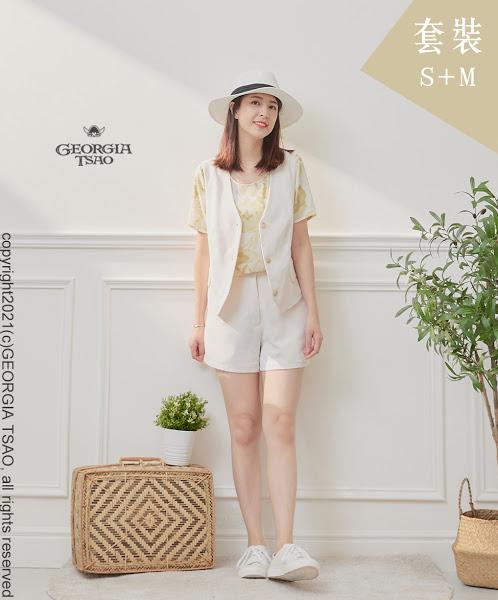 西裝背心/短褲套裝組-白色S/M