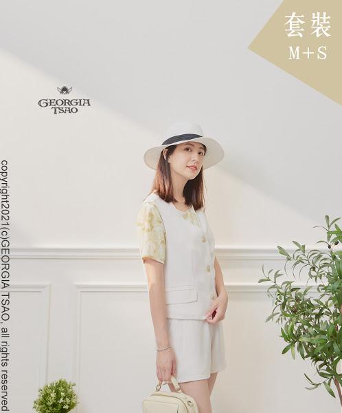 西裝背心/短褲套裝組-白色M/S