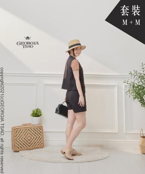 西裝背心/短褲套裝組-黑色M/M