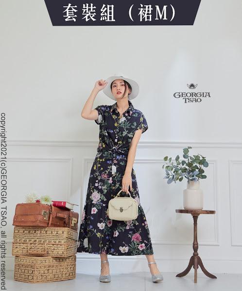 GT花卉圖鑑-法式袖襯衫/排釦魚尾裙 F/M