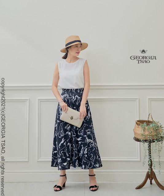GT Print 新版長圓裙